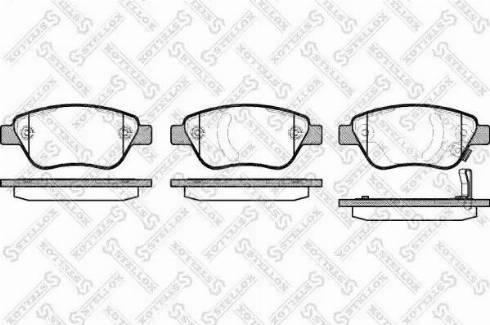 Stellox 869 031B-SX - Тормозные колодки, дисковые car-mod.com