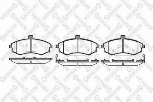 Stellox 904 002B-SX - Тормозные колодки, дисковые car-mod.com