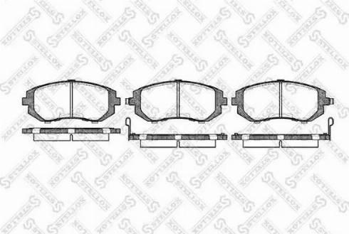 Stellox 962 002B-SX - Тормозные колодки, дисковые car-mod.com
