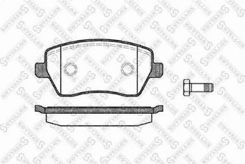 Stellox 998 000-SX - Комплект тормозных колодок, дисковый тормоз autodnr.net