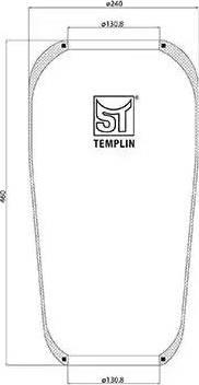 ST-Templin 040606006210 - Кожух пневматической рессоры autodnr.net