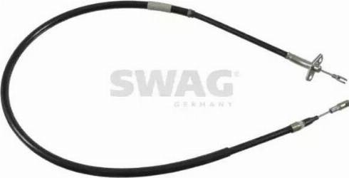 Swag 10 92 1783 - Трос, стояночная тормозная система avtokuzovplus.com.ua