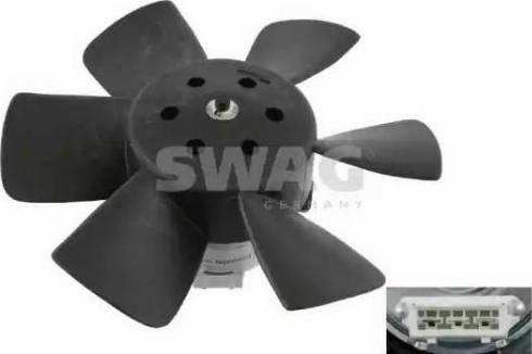 Swag 30 90 6989 - Вентилятор, охлаждение двигателя car-mod.com