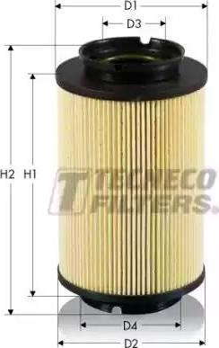 Tecneco Filters GS0308-E - Паливний фільтр autocars.com.ua