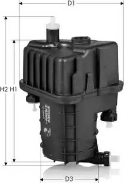 Tecneco Filters GS10040-P - Паливний фільтр autocars.com.ua