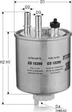 Tecneco Filters GS10396 - Паливний фільтр autocars.com.ua