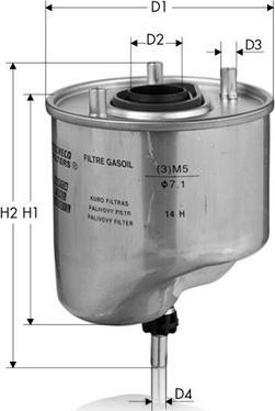 Tecneco Filters GS1055 - Топливный фильтр car-mod.com