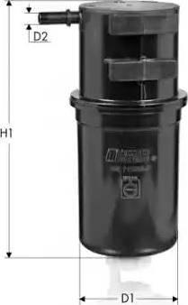 Tecneco Filters GS11238-P - Паливний фільтр autocars.com.ua