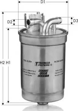 Tecneco Filters GS842/21 - Паливний фільтр autocars.com.ua