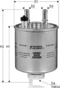 Tecneco Filters GS9022 - Паливний фільтр autocars.com.ua