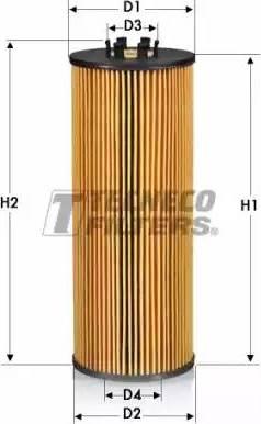 Tecneco Filters OL0111-E - Масляний фільтр autocars.com.ua