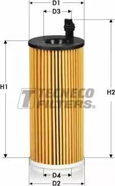 Tecneco Filters OL06004-E - Масляний фільтр autocars.com.ua