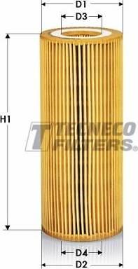 Tecneco Filters OL07012-E - Масляний фільтр autocars.com.ua