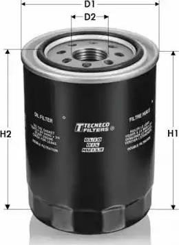 Tecneco Filters OL1002-T - Масляний фільтр autocars.com.ua