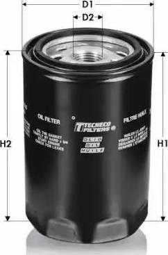 Tecneco Filters OL93 - Масляний фільтр autocars.com.ua