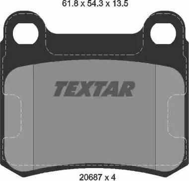 Textar 2068703 - Комплект тормозных колодок, дисковый тормоз autodnr.net