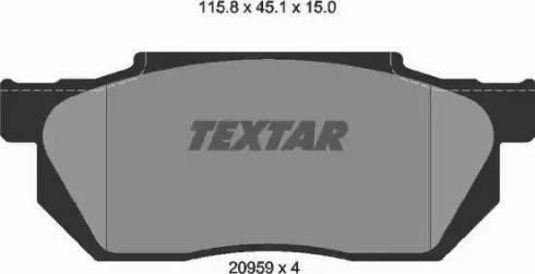 Textar 2095901 - Комплект тормозных колодок, дисковый тормоз autodnr.net