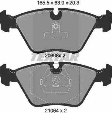 Textar 2096801 - Комплект тормозных колодок, дисковый тормоз autodnr.net