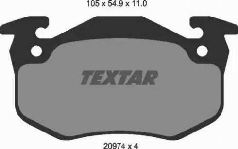 Textar 2097401 - Комплект тормозных колодок, дисковый тормоз autodnr.net