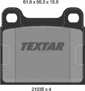 Textar 2103501 - Комплект тормозных колодок, дисковый тормоз autodnr.net