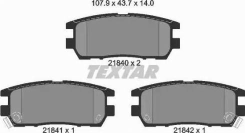 Textar 2184002 - Комплект тормозных колодок, дисковый тормоз autodnr.net