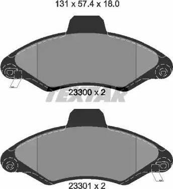 Textar 2330002 - Комплект тормозных колодок, дисковый тормоз autodnr.net