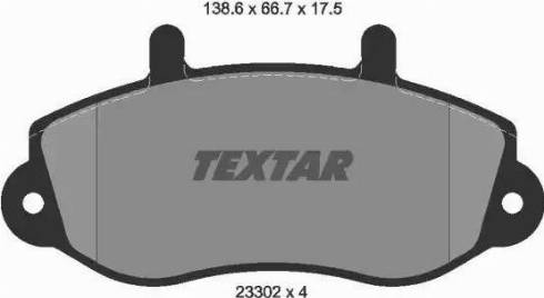 Textar 2330201 - Комплект тормозных колодок, дисковый тормоз autodnr.net