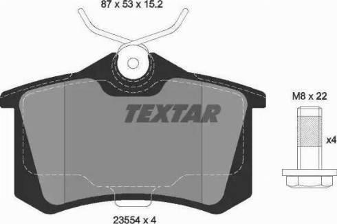 Textar 2355401 - Комплект тормозных колодок, дисковый тормоз autodnr.net