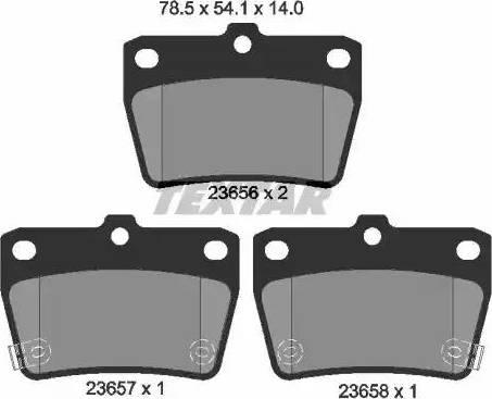 Textar 2365601 - Комплект тормозных колодок, дисковый тормоз autodnr.net