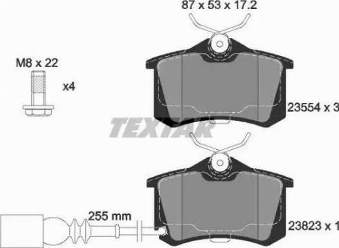 Textar 2382301 - Комплект тормозных колодок, дисковый тормоз autodnr.net