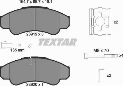 Textar 2391901 - Комплект тормозных колодок, дисковый тормоз autodnr.net