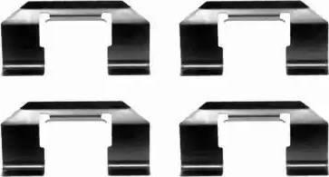 Textar 82051700 - Комплектующие, колодки дискового тормоза autodnr.net