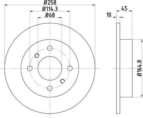Textar 92056400 - Тормозной диск autodnr.net