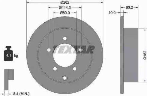 Textar 92227403 - Тормозной диск autodnr.net