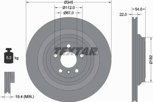 Textar 92284003 - Тормозной диск autodnr.net