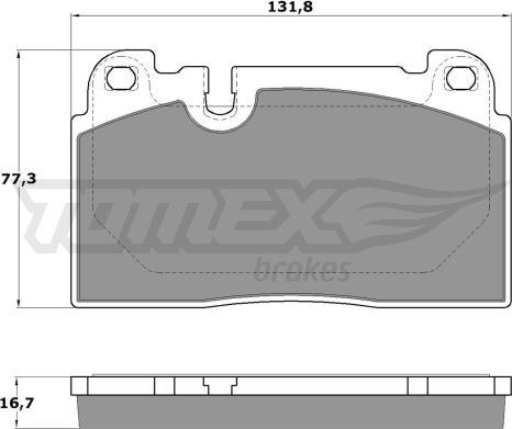 TOMEX brakes TX 17-14 - Комплект тормозных колодок, дисковый тормоз autodnr.net
