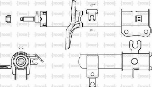 TOOR SG11451 - Амортизатор car-mod.com