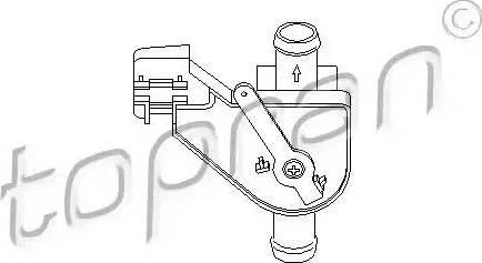 Topran 102654 - Регулирующий клапан охлаждающей жидкости avtokuzovplus.com.ua