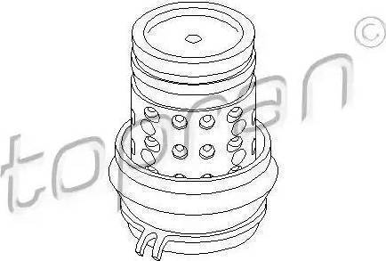 Topran 103 019 - Подушка, подвеска двигателя car-mod.com