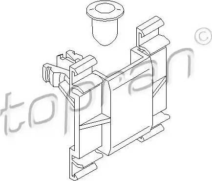 Topran 103102 - Зажим, молдинг / защитная накладка car-mod.com