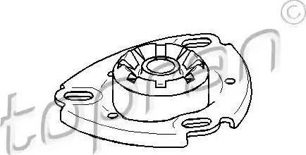Topran 103 673 - Опора стійки амортизатора, подушка autocars.com.ua