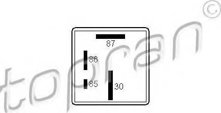 Topran 107258015 - Реле, система накаливания autodnr.net