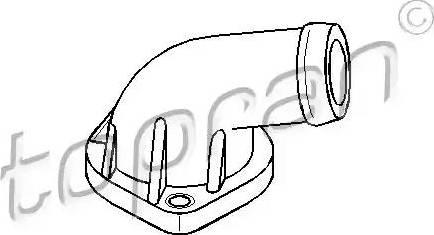 Topran 107 305 - Фланец охлаждающей жидкости car-mod.com