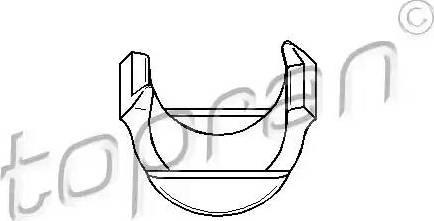 Topran 108 123 - Сайлентблок, важеля підвіски колеса autocars.com.ua