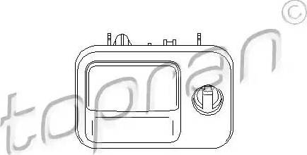 Topran 109077 - Замок вещевого ящика car-mod.com