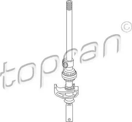 Topran 109 307 - Шток вилки перемикання передач autocars.com.ua
