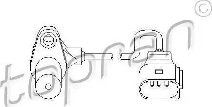 Topran 111 377 - Датчик импульсов, коленвал avtokuzovplus.com.ua