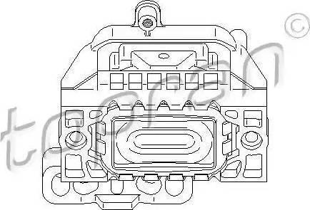 Topran 110 759 - Подушка, подвеска двигателя car-mod.com