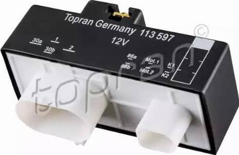 Topran 113597 - Блок управления, эл. вентилятор (охлаждение двигателя) avtokuzovplus.com.ua