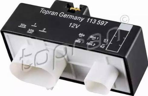 Topran 113 597 - Реле, вентилятор радиатора car-mod.com